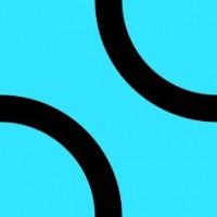 Настенная плитка Лабиринт 2 20х20 голубая матовая