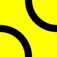 Настенная плитка Лабиринт 3 желтая матовая 20х20