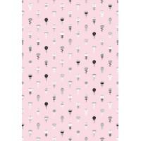 Настенная плитка СКАЗКА 1 (розовая с мелким рисунком) 400х275 матовая с антибактериальным покрытием Microban