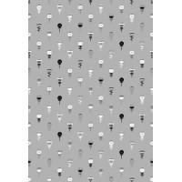 Настенная плитка СКАЗКА 5 (серая с мелким рисунком) 400х275 матовая с антибактериальным покрытием Microban