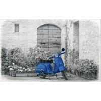 Декор СИРИУС синий скутер (новинка!)