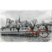 Декор СИРИУС оранжевый велосипед (новинка!)