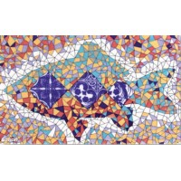 Декор орнамент глянцевая D696a - 33x20
