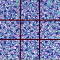 Напольная плитка орнамент глянцевая GDF8N3 - 33x33