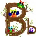 Детская плитка декор буква B