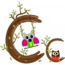 Детская плитка декор буква C