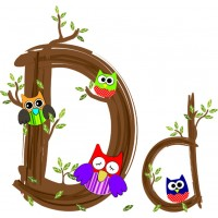 Детская плитка декор буква D