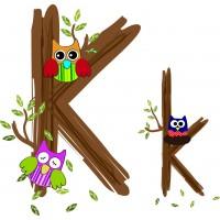 Детская плитка декор буква K