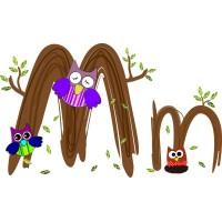Детская плитка декор буква M