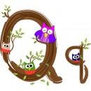 Детская плитка декор буква Q