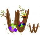 Детская плитка декор буква W