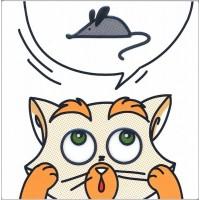 Декор Котик и Мышка