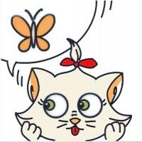Декор Кошечка и Бабочка