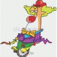 Мозаичное панно Клоун блондин К-01. Серия КЛОУНЫ.