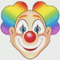 Мозаичное панно Клоун голова К-04. Серия КЛОУНЫ.