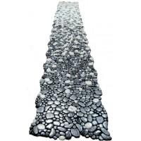 Растяжка  АНТИСЛИП из мозаики камешки Gravel DGZ-2 серая KERAMISSIMO