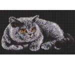 Мозаичное панно Серый кот Ж-03. Серия ЖИВОТНЫЕ.