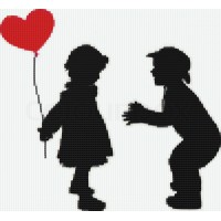 Мозаичное панно Детский разговор, сердце. Серия ДЕТИ.