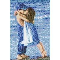 Мозаичное панно Детский поцелуй Д-02. Серия ДЕТИ.