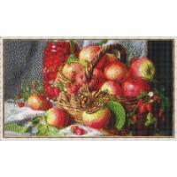 Мозаичное панно Корзина с яблоками Ф-04 с бордюром SF-14114. Серия ФРУКТЫ.