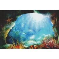 Мозаичное панно Морская пещера M-04. Серия МОРЕ.