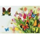 Мозаичное панно Тюльпаны и бабочки+1 Б-04. Серия БАБОЧКИ