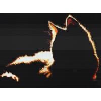 Мозаичное панно Рыжий кот силуэт Ж-04. Серия ЖИВОТНЫЕ.
