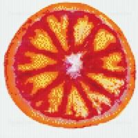 Мозаичное панно Красный апельсин Ф-02. Серия ФРУКТЫ.