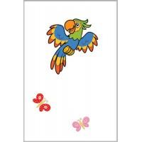 Декор голубой попугай
